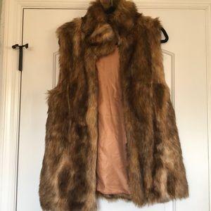 Over sized fur vest